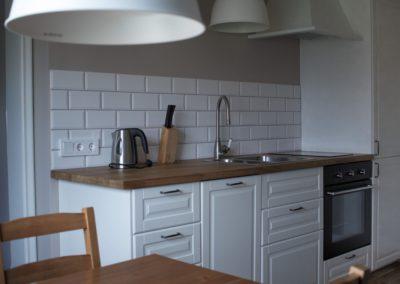 lägenhet ett rum med kök