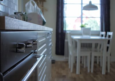 Ett rum med kök